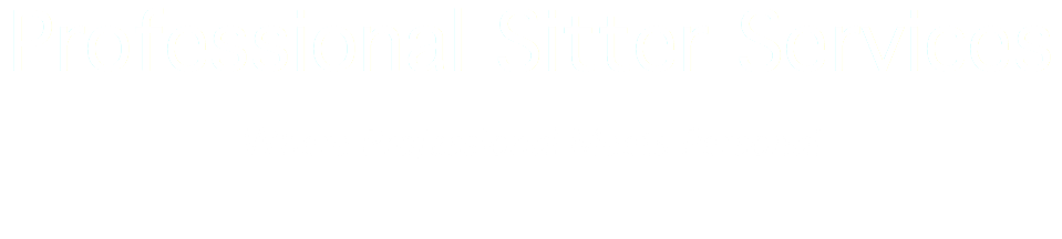 Professional Sitter Services Where Professional Meets Personal